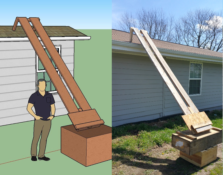 Roofing Elevator Used Amp Ladder Hoisting Wheel Lifting