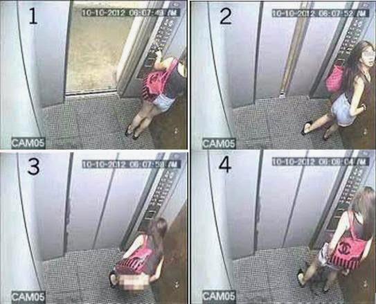 Aksi kami dalam lift - 2 part 7