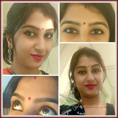 Swatches and FOTD of Lakme Jewel Liquid Sindoor in Red Shade/ Anamika Chattopadhyaya