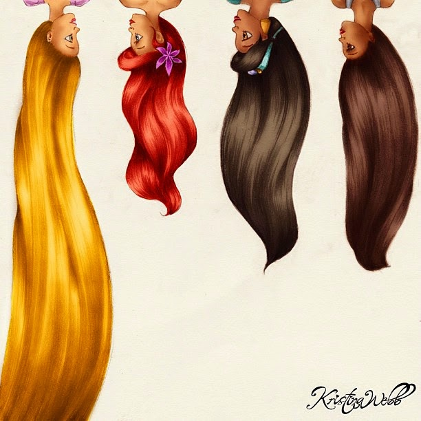 20-Disney-Hair-Kristina-Webb-Colour-me-Creative-Drawings-www-designstack-co
