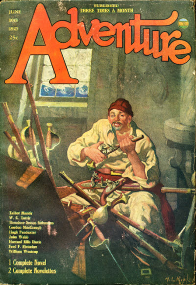 Pulp Flakes Adventure Magazine Covers Featuring A Pirate