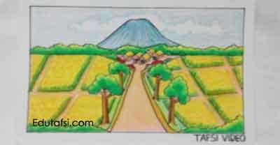 Menggambar pemandangan alam untuk pemula