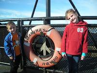kids on ferry to Martha's Vineyard