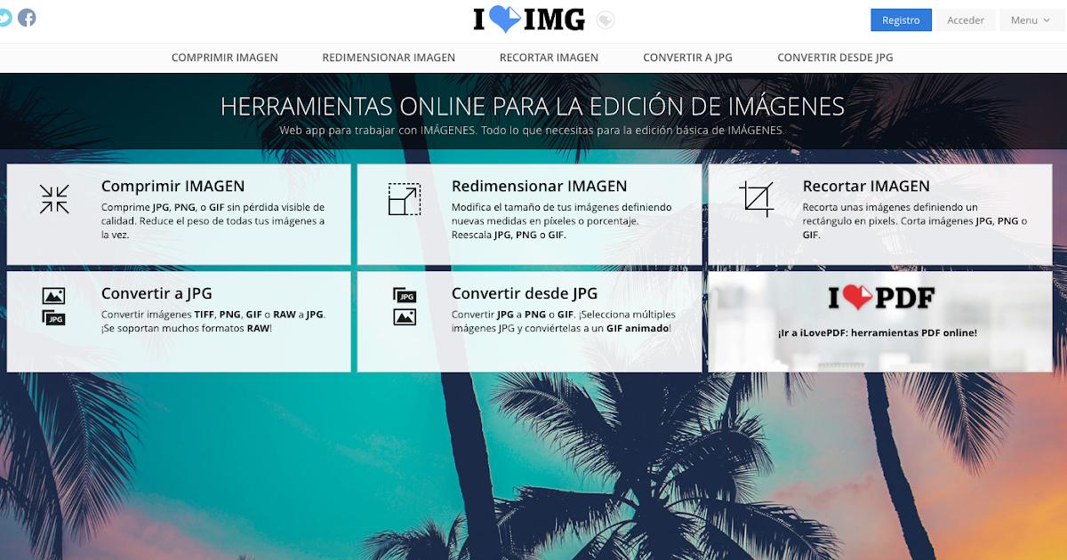 I love IMG - Para transformar y editar imágenes online