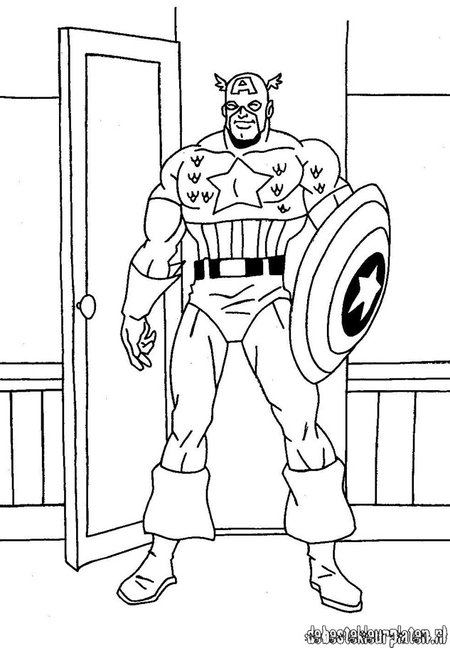 baby captain america coloring pages - photo#32