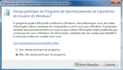 Desabilitar o CEIP do Windows