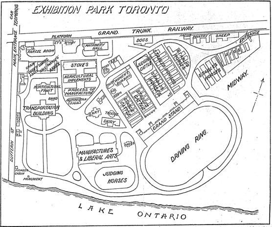 Map: Exhibition Park Toronto, 1906
