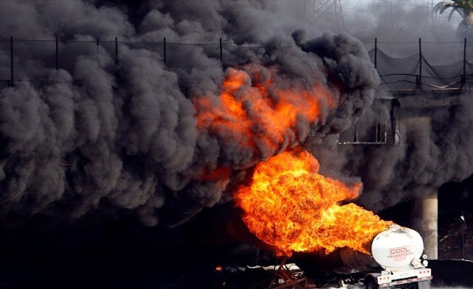 Three injured as fuel tanker catches fire in Eastern Region
