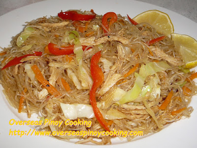 Pansit Sotanghon with Roast Chicken Breast Recipe