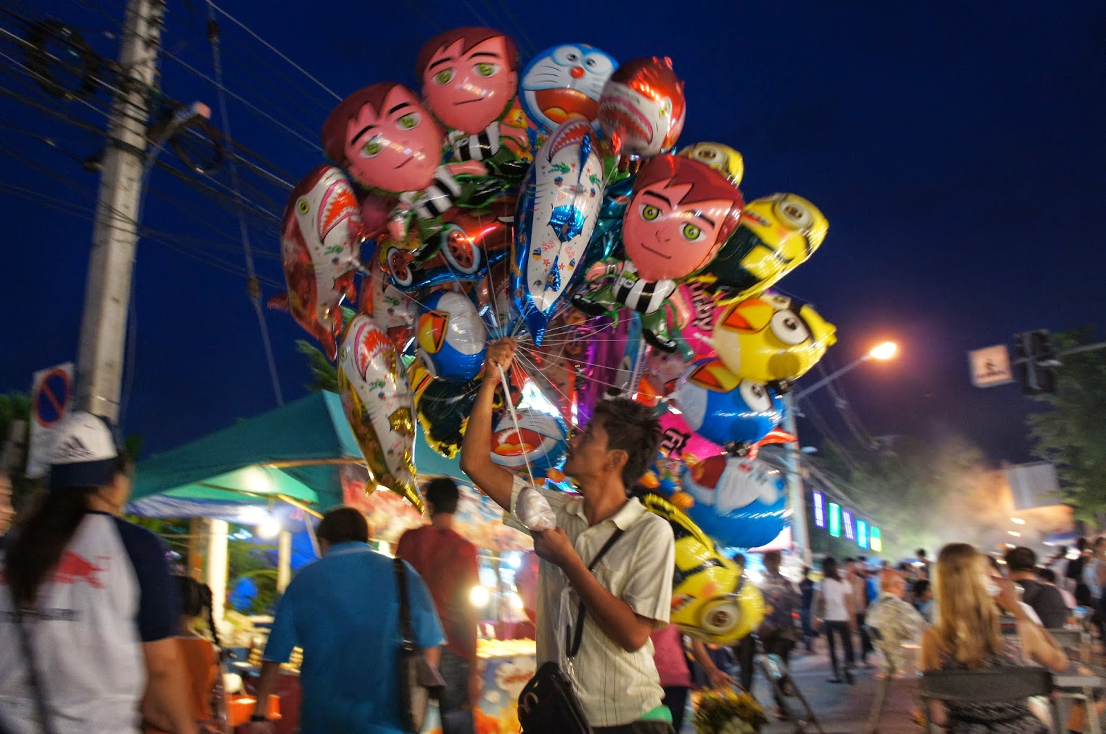 Chiang Mai - There was even a section of carnival rides, games, and balloons