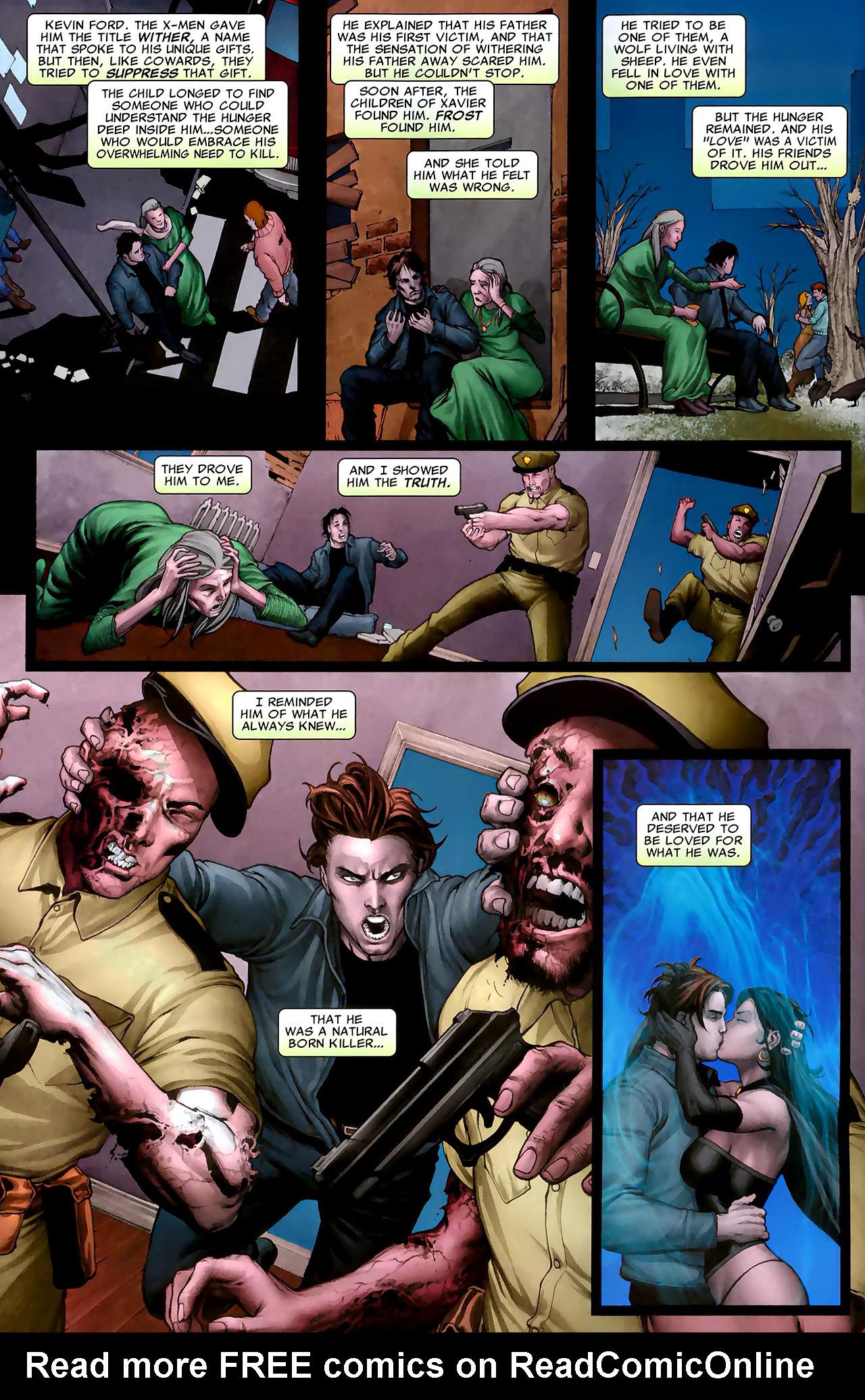 Read online X Necrosha: The Gathering comic -  Issue # Full - 5