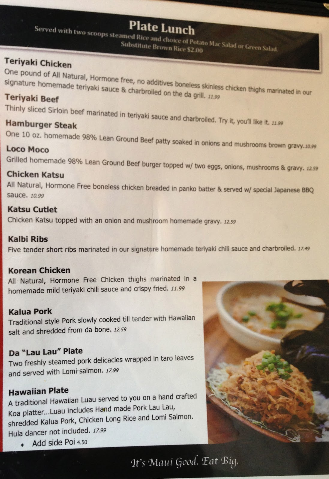 TASTE OF HAWAII: DA KITCHEN CAFE - KAHULUI, MAUI