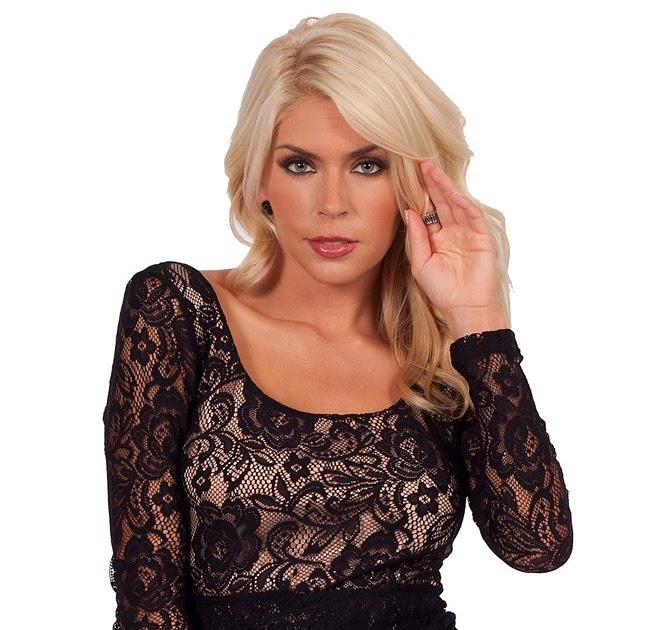 Dress4Cutelady  Sexy   Romantic Low Cut Black Victorian Floral Lace Overlay  Long-Sleeve Open Back Fitted Cocktail Mini Dress bce0859ae