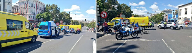 accidente ambulancia y moto las palmas de gran canaria