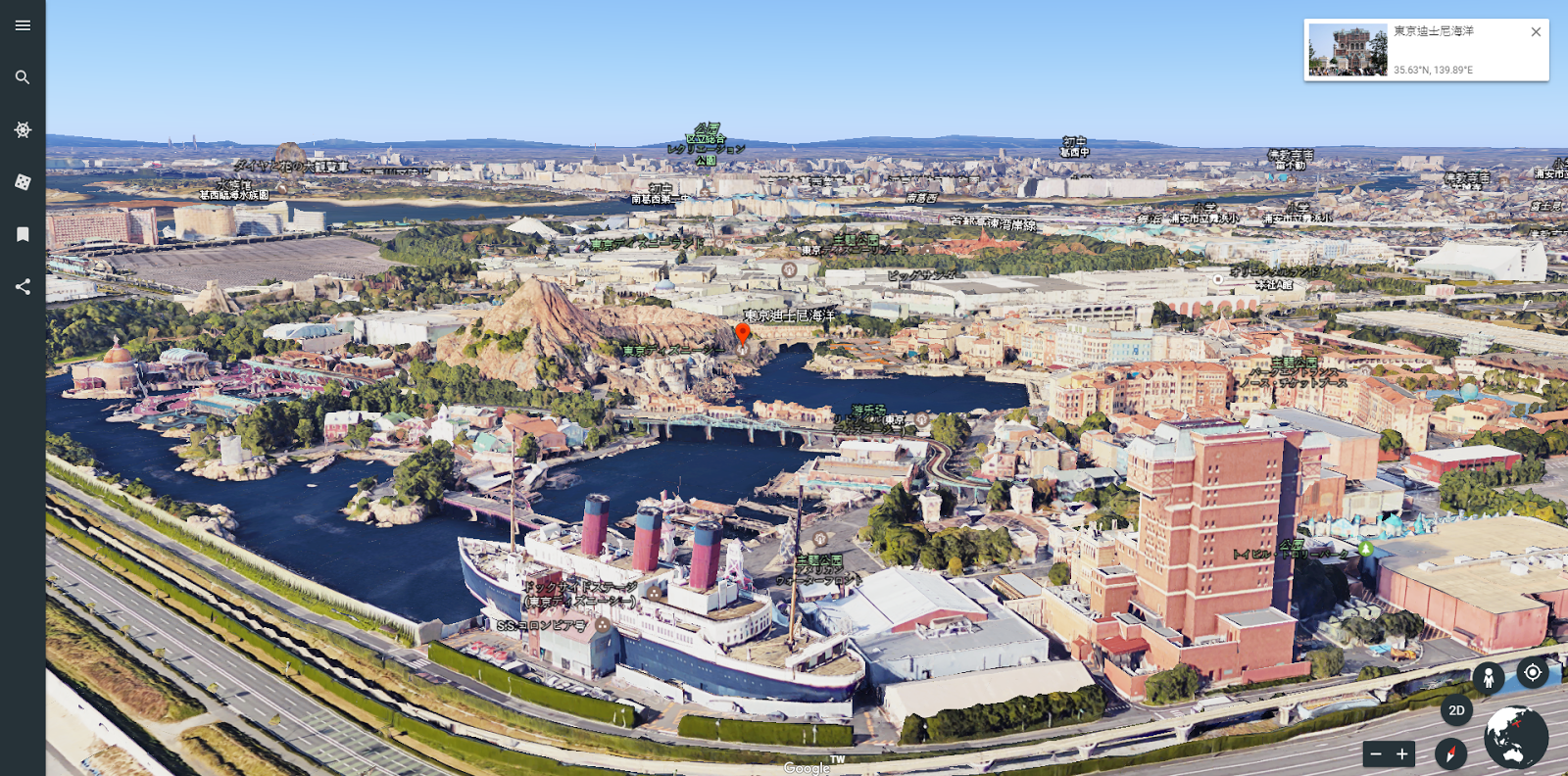 Google 地球推出 9.0 全新網頁版,重新設計的 3D 世界導覽