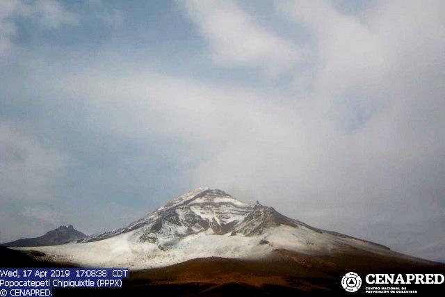 Incrementa actividad el Popocatépetl