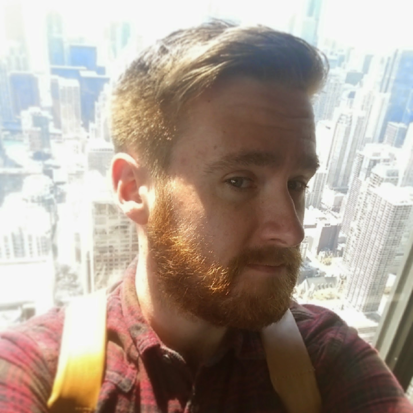 hancock tower chicago rogues brogues menswear blog selfie