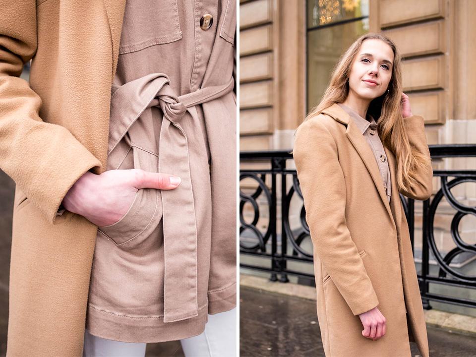 Fashion blogger outfit inspiration, white and beige tones, utility jacket - Muotibloggaaja, asuinspiraatio, valkoinen + beige