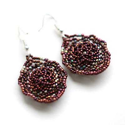 купить серьги с камнями сваровски украшения из бисера ручной работы цена