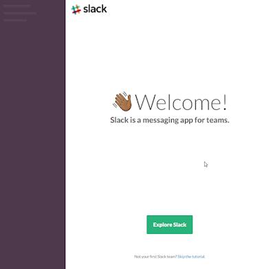 Slack - Enfin le Welcome