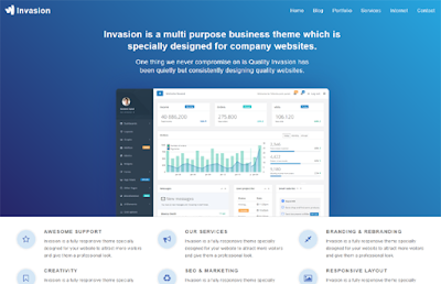Invasion Business Blogger Template