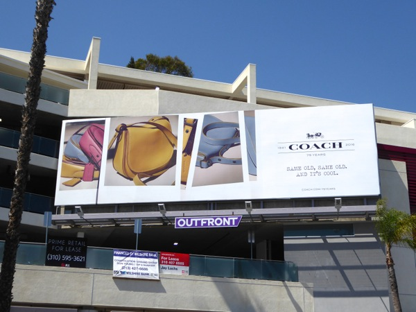 Coach handbags Same old cool billboard