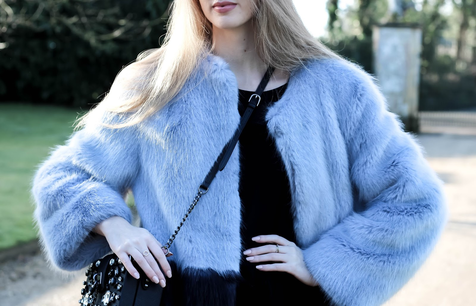 How to Style Colourblock Faux Fur Coat