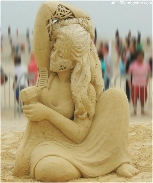 Esculturas de Arena de Revere Beach: Melineige Beauregard