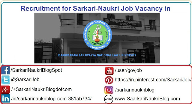 Naukri Vacancy Recruitment Damodaram Sanjivayya NLU