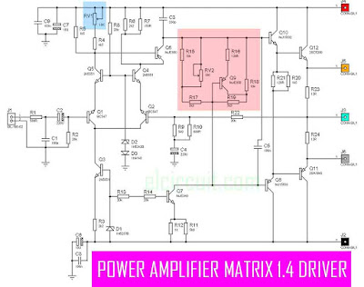 Power Amplifier Matrix 1.4 Circuit Schematic