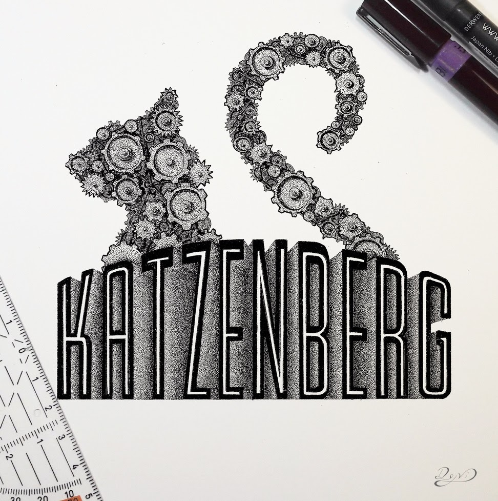 15-Typography-Lettering-Dejvid-Stippling-Illustrator-using-Dots-to-Draw-www-designstack-co