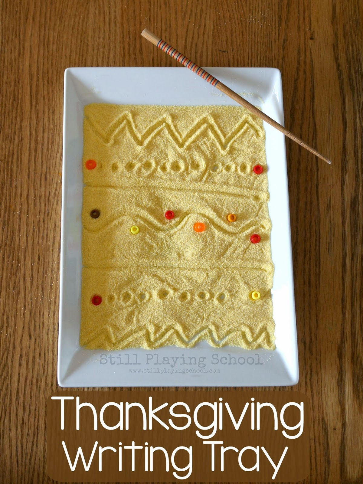 Thanksgiving Writing Tray