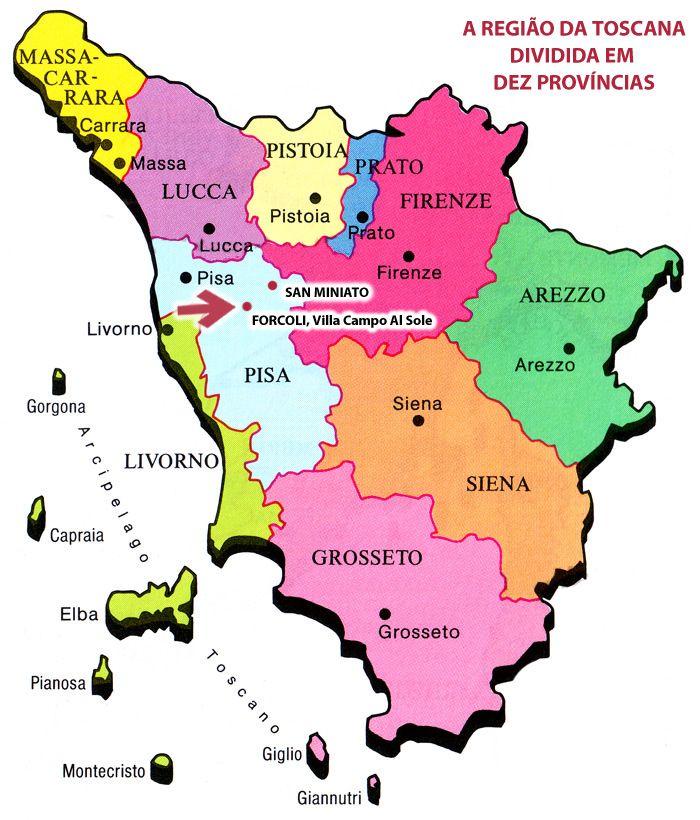 toscana itália mapa Mapa Toscana Italia toscana itália mapa