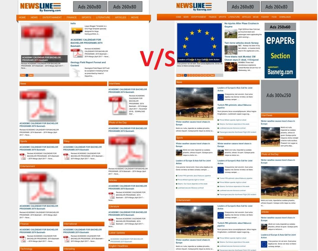 Basnetg Newsline Template For Blogger Free Promod Blogs