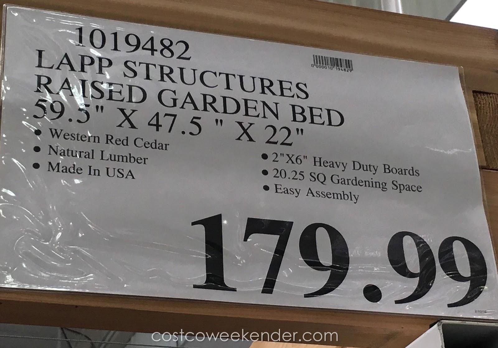 Lapp Structures Yardcraft Western Red Cedar Raised Garden Bed Costco Weekender