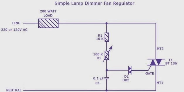 Electrical Simplified Speed Regulator Triac