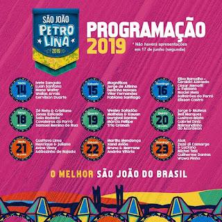São João de Petrolina - Marília Mendonça, Xand Avião, Bruno & Marrone e mais