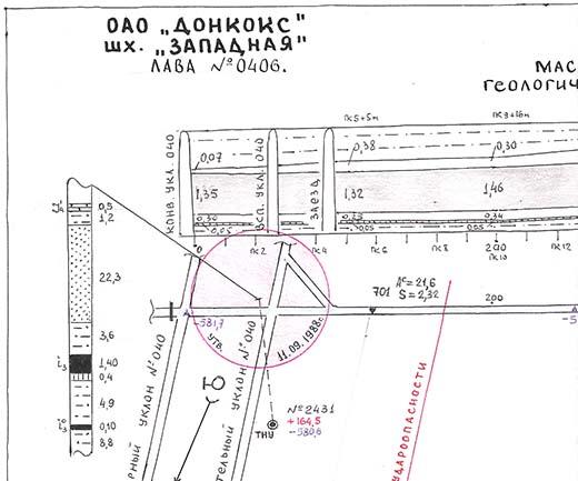 El mapa prueba que los dueños de la mina eran conscientes de estos hallazgos pero los encubrieron