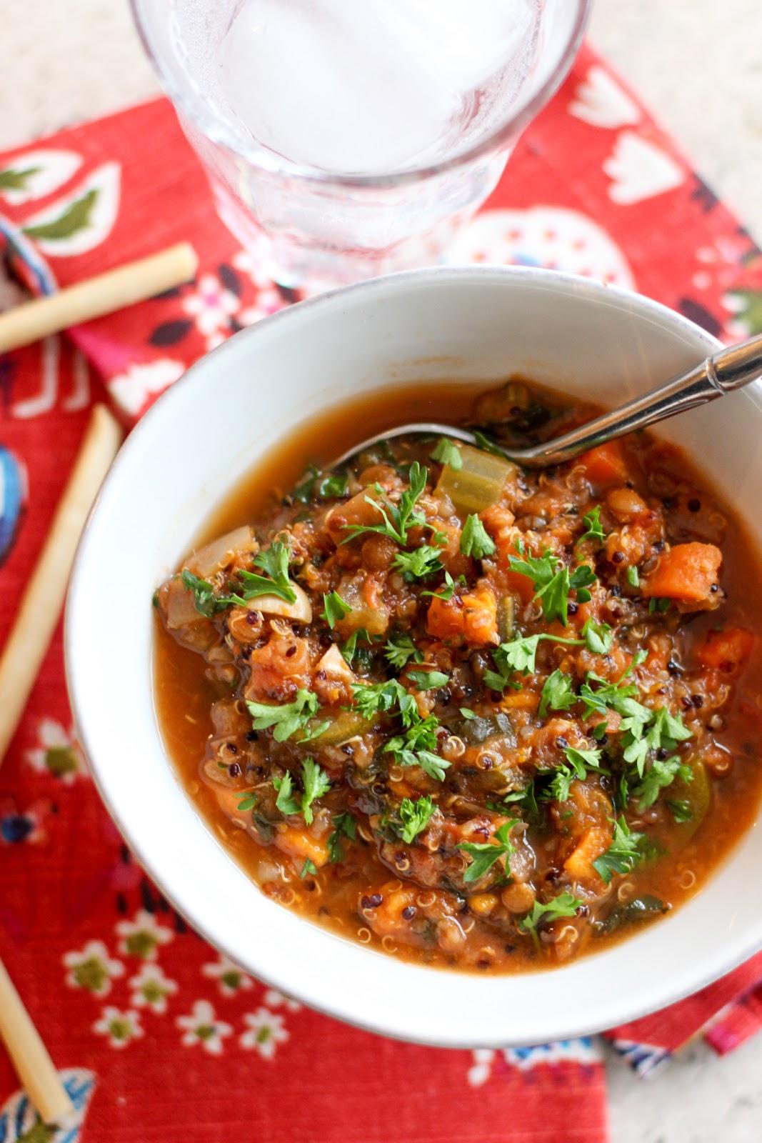 Crock-Pot® Detox Vegetable Quinoa Soup [Cooking Video]