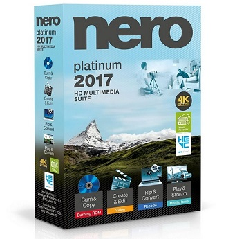 Nero 2017 Platinum 18.0.08500 poster box cover