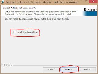Cara Install Delphi 7 di Windows 8 7