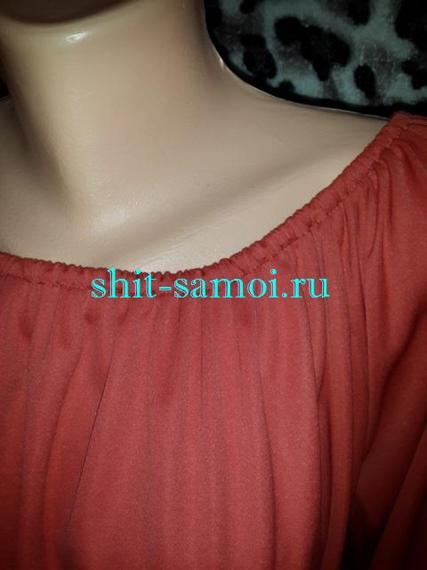 Летнее платье с кулиской на горловине