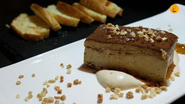 Falso turrón de foie con almendra frita y mermelada de higos (9.90€) en la Gastrocroquetería de Chema Madrid