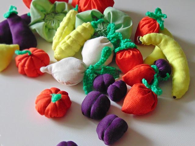 zabawkowe owoce i warzywa dla dzieci DIY