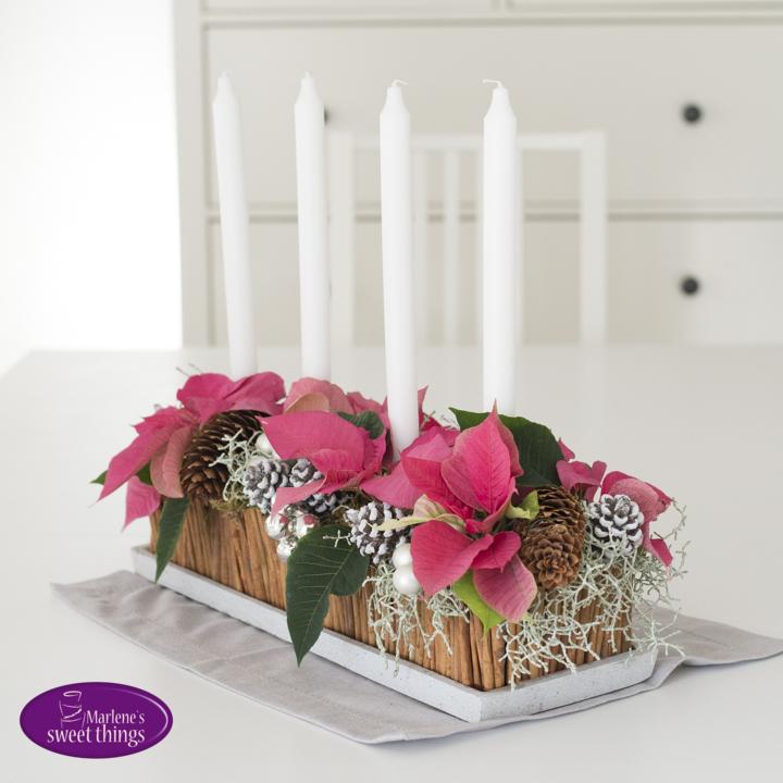 Werbung Weihnachtsstern Centerpiece Als Tischdeko Fur Den