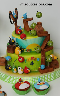 Tortas Angry Birds. Venta de tortas en Lima, Santa Anita, Ate, La Molina, San Borja