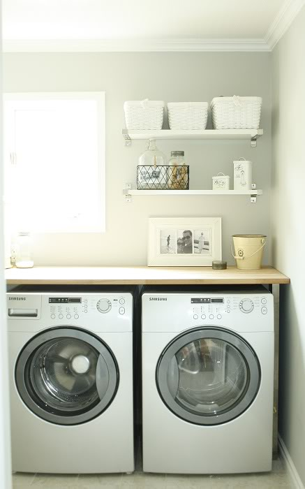 Finest Wrapped in Raffia: washer and dryer countertop LI96