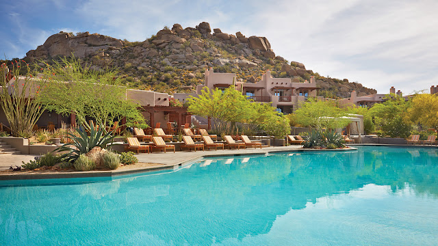 Nestled into the foothills of Pinnacle Peak – amid towering, multi-armed saguaro cacti – the adobe casitas of Four Seasons Resort Scottsdale at Troon North in Scottsdale, Arizona embody the desert's magic through thoughtful design and the outstanding talent of regional artists and craftspeople.