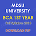 MDSU University BCA 1st Year Full Syllabus 2018 Download PDF