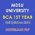 MDSU University BCA 1st Year Full Syllabus 2018 Download PDF